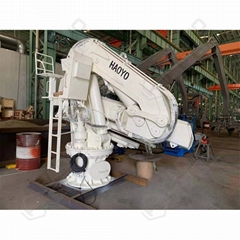 Mini Electric Hydraulic Marine Folding Crane on Boat