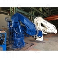 1ton Folding Telescopic Marine Ship Pedestal Deck Crane