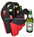 Beer bottle cooler for 6