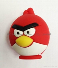 Cartoon Angry Bird Flash Disk, USB Memory, Pen Drive