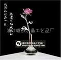 水晶玫瑰花