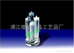 水晶奖杯图片