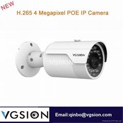 H.265 4 Megapixel POE IP Camera 3.6 mm lens Human Face Detection Camera DNR/DWDR