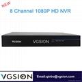 8CH 1080P HD NVR HDMI H.264 Network