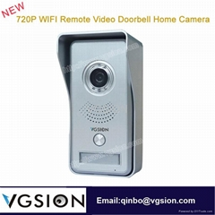 720P WIFI Remote Video Doorbell Home Wireless IP Camera