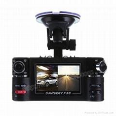 DUAL LENS 720P HD CAR DVR Vehicle Portable Camera Motion Detect DVR
