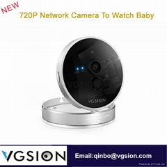 720P Network Camera To Watch Baby  Wireless Video Camera Indoor IP Wif Camera