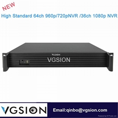 64CH 960P NVR Network POE Video Recorde For IP Camera System