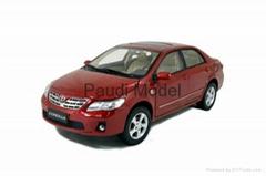 Metal Car Toyota Corolla Diecast Car  1/18 Models Aluminum Die Casting Product