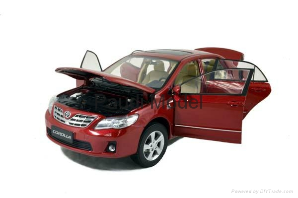 Metal Car Toyota Corolla Diecast Car 1 18 Models Aluminum