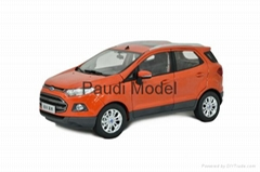 Metal car Ford Ecosport 2013 Diecast Model Car1/18 Collectable Diecast By Paudi