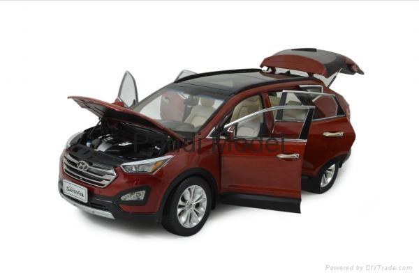 Hyundai Santafe 2013 Die Cast Model 1 18 Scale Hobbies