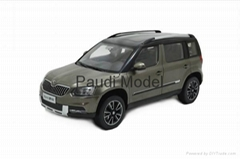Gifts Skoda Yeti Die-cast Model 1/18 Scale Hobbies Diecast By Paudi