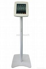 Aluminum floor iPad Kiosk Stand (White Color)