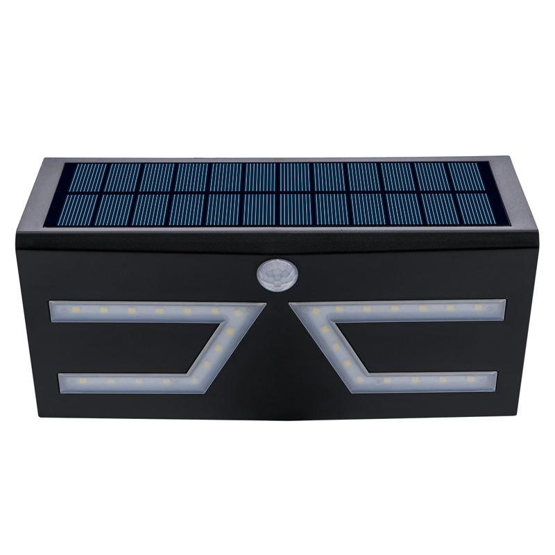格士得新款太阳能人体感应灯5W大功率 室外防水庭院灯LED花园壁灯 4