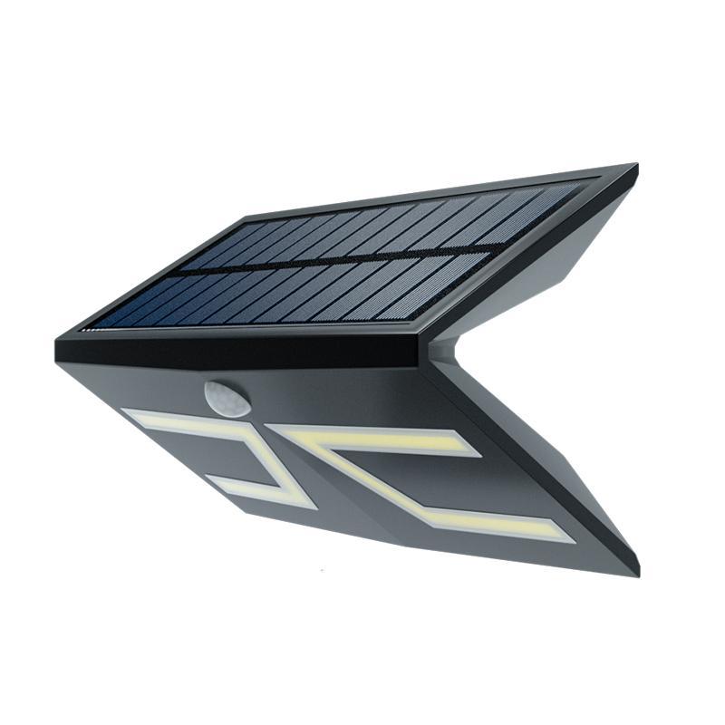 新款大功率LED太阳能庭院壁灯农村家用户外防水一体化感应小路灯 1