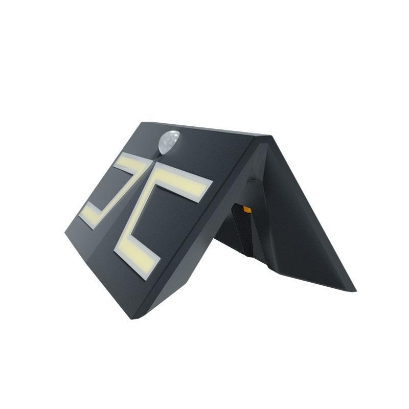 新款大功率LED太阳能庭院壁灯农村家用户外防水一体化感应小路灯 4
