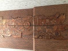 天津學校浮雕