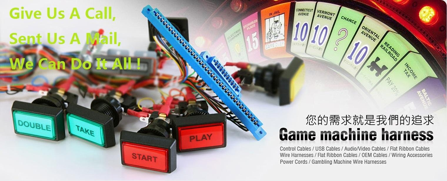 Game machine harness