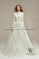 2014新款魚尾蕾絲釘珠婚紗