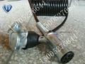 5芯拖挂车螺旋连接弹簧线 2