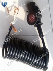 5芯拖挂车螺旋连接弹簧线