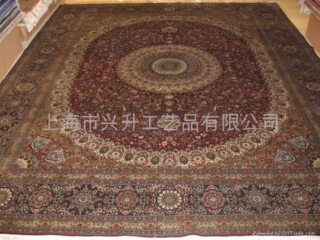 """手工地毯真丝地毯8'0""""x10'0""""丝毯1312(800道) 1"""