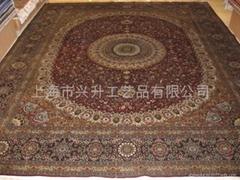 """手工地毯真丝地毯8'0""""x10'0""""丝毯1312(800道)"""