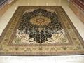 手工编织真丝地毯