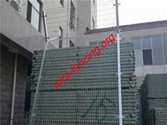hot dipped galvanized or powder coating welded airport fence factory