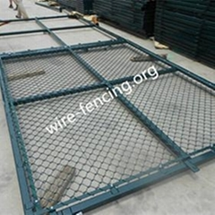 hot dipped galvanized or PVC coated chain link fencing factory