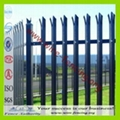 hot dipped galvanized or powder coating palisade fencing