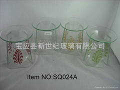 玻璃燻香爐(燻香燭台)