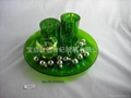 set of glass candle holder 1