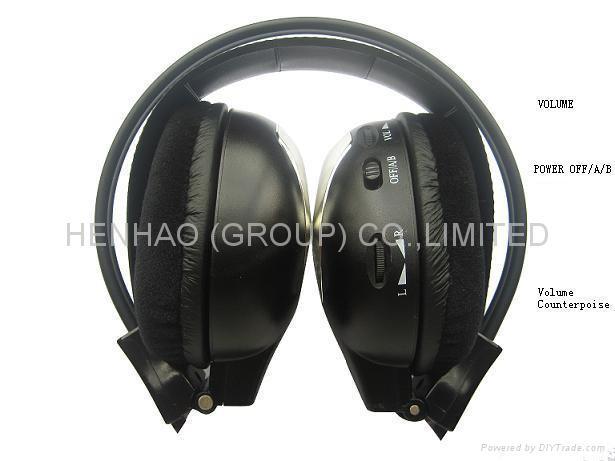 Infrared wireless headphone for headrest car dvd
