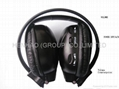 Infrared wireless headphone for headrest car dvd