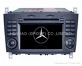 in dash gps with car dvd player for Benz