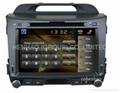 HD 7 GPS car DVD player for KIA Sportage