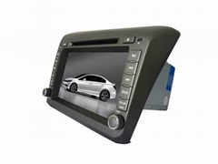 1017 Car GPS Navigation System DVD Player For 2012 HONDA CIVIC