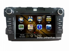 1018 HD 7inch 2din GPS car cd vcd mp3 mp4 DVD player for mazda cx-7 canbus