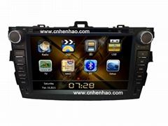 "9950K 8"" Car dvd gps navigation for TOYATO /COROLLA 2008-2010 (Digital screen)"