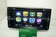 "HD head unit in dash 2din 6.95"" car dvd cd player gps navigation for 02 corolla"