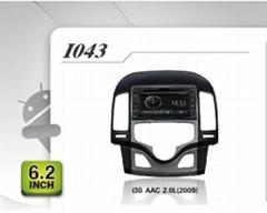 Pure Android headunit car dvd gps for HYUNDAI i30 AAC 2.0L (2009)