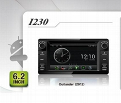 Pure Android headunit car dvd gps for Mitsubishi Ouslander (2012)