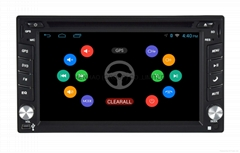 Android 4.4 Quad Core 2 Din car stereo DVD GPS Player 6.2 Radio TPMS DVR OBD2
