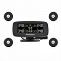 Wireless Real-time Monitoring TPMS With 3inch LED Display 4 External Sensors Dig