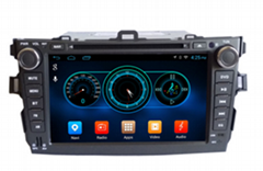 "Quad Core 1024*600 Android wifi 8"" In dash head unit car dvd player gps nav for"