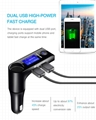 car mp3 fm transmitter bluetoooth quick charger
