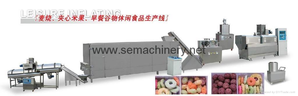 早餐谷物膨化食品设备 2