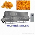 Breakfast extruded flakes processing line